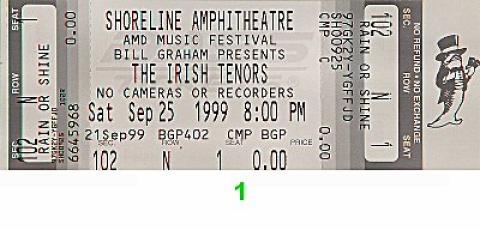 Irish Tenors Vintage Ticket