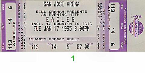 The Eagles Vintage Ticket