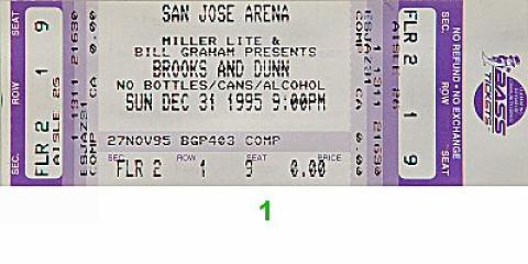 Brooks & Dunn Vintage Ticket