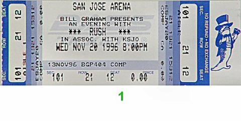 Rush Vintage Ticket