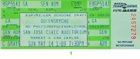 Queensryche Vintage Ticket