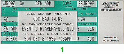 Cocteau Twins Vintage Ticket