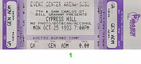 Cypress Hill Vintage Ticket