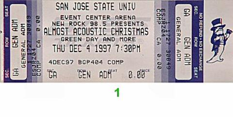 Our Lady Peace Vintage Ticket