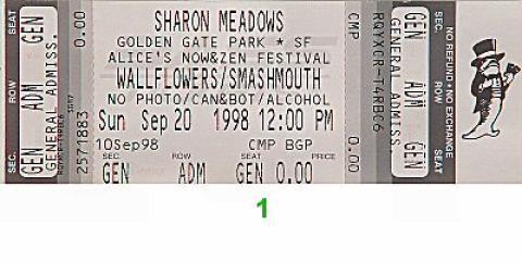 Alice's Now and Zen Festival Vintage Ticket