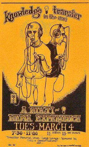 Knowledge transfer in the 1970's Handbill