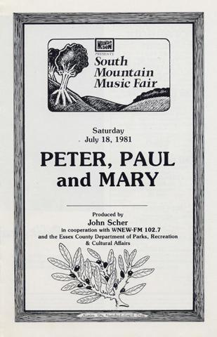 Peter, Paul & Mary Program