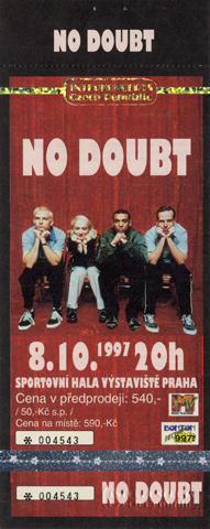 No Doubt Vintage Ticket