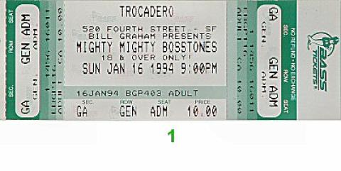 The Mighty Mighty Bosstones Vintage Ticket