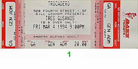 Los Tres Gusanos Vintage Ticket