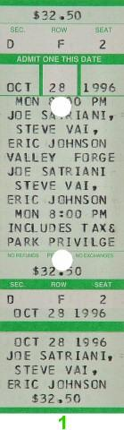 Joe Satriani Vintage Ticket