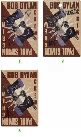 Bob Dylan Backstage Pass