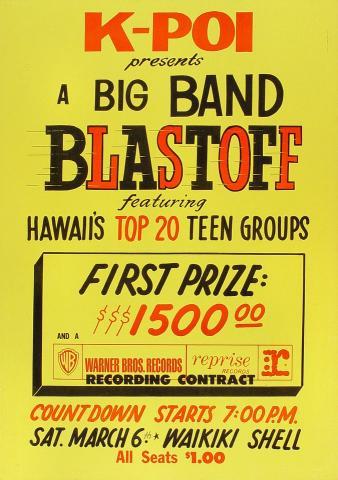 A Big Band Blastoff Poster