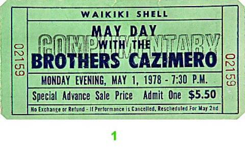 The Brothers Cazimero Vintage Ticket