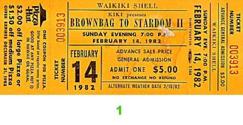 Brownbags to Stardom II Vintage Ticket