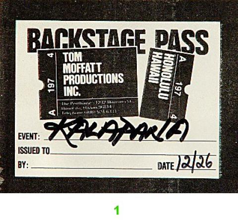 Kalapana Backstage Pass