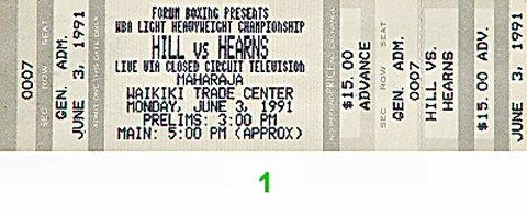 "Thomas ""Hitman"" Hearns Vintage Ticket"