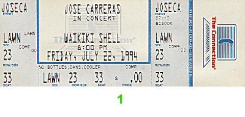 Jose Carreras Vintage Ticket
