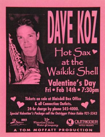 Dave Koz Handbill