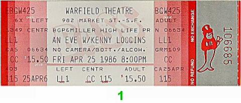 Kenny Loggins Vintage Ticket