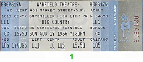 Big Country Vintage Ticket