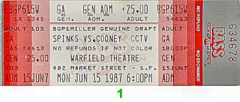 Michael Spinks Vintage Ticket