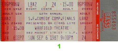 San Francisco Comedy Competition Vintage Ticket