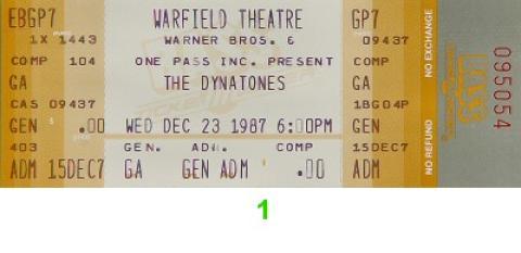 The Dynatones Vintage Ticket