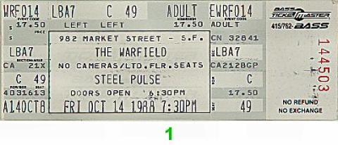 Steel Pulse Vintage Ticket
