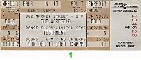 Testament Vintage Ticket