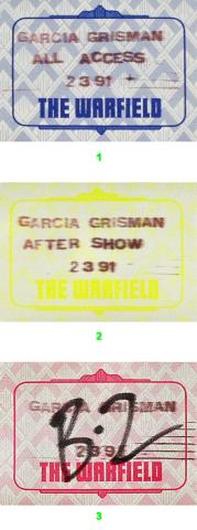Jerry Garcia and David Grisman Backstage Pass