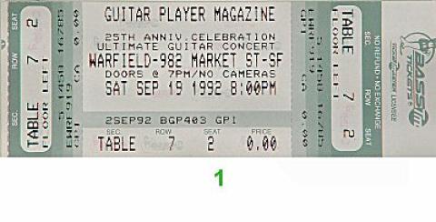 Dick Dale Vintage Ticket