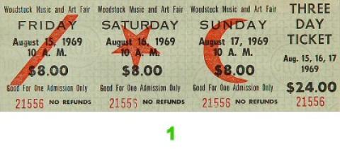 Woodstock Vintage Ticket