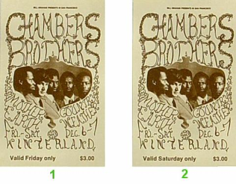 The Chambers Brothers Vintage Ticket