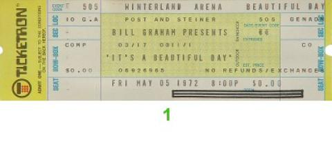 It's a Beautiful Day Vintage Ticket
