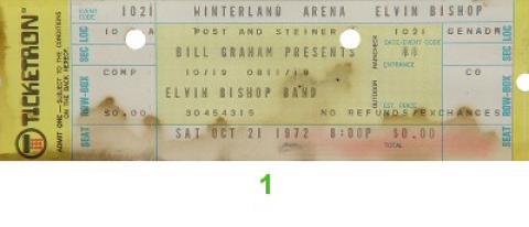 Elvin Bishop Vintage Ticket