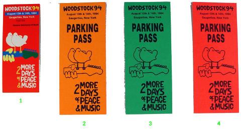 Woodstock '94 Vintage Ticket
