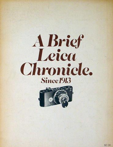 A Brief Leica Chronicle
