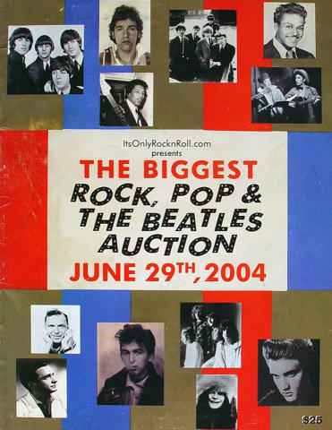 The Biggest Rock, Pop And The Beatles Auction