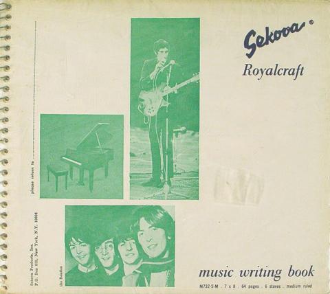 Sekova Royalcraft Music Writing Book