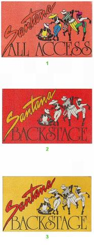 Santana Backstage Pass