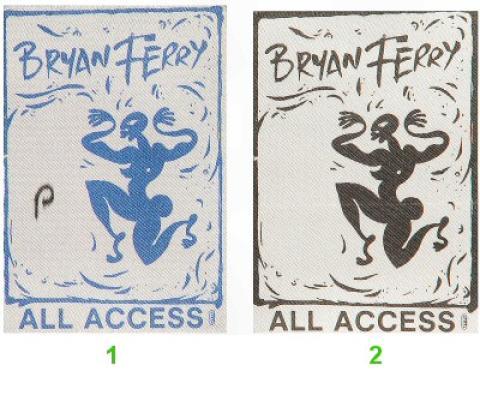 Bryan Ferry Backstage Pass