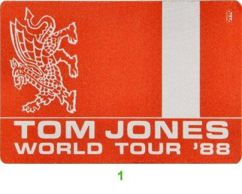 Tom Jones Backstage Pass