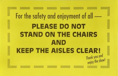 For the safety and enjoyment of all- Handbill