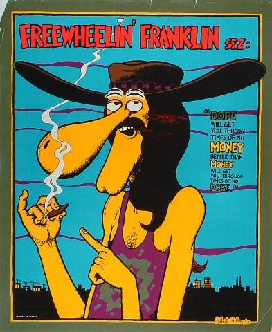 Freewheelin' Franklin Serigraph