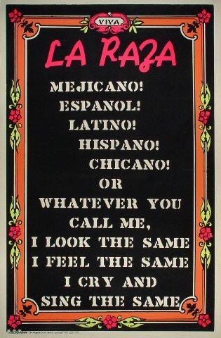 Viva La Raza Poster