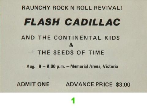 Flash Cadillac & the Continental Kids Vintage Ticket