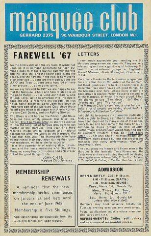 Farewell '67 Handbill