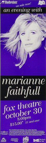 Marianne Faithfull Poster