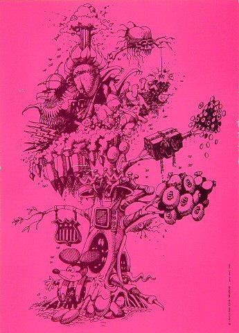 Pyschedelic Tree Postcard
